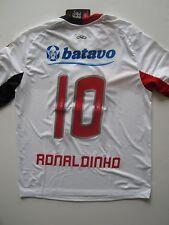 10-11 Flamengo Ronaldinho Away Soccer Jersey Brasil Ronaldo Olympikus M White
