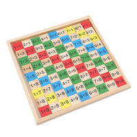 Math 99 Multiplication Table Wooden Toy Kid Arithmetic Learning Educational Toy