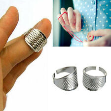 5* Adjustable Thimble Sewing Quilting Metal Ring Leather Craft Finger Protector