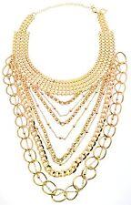 Thalia Sodi Gold-Tone Multichain Layer Choker Necklace