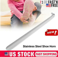 16.5inch Stainless Steel Long Handled Metal Shoe Horn Lifter with Hanging Hole