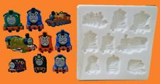 THOMAS THE TANK ENGINE SET SILICONE MOULD FOR CAKE TOPPERS, CHOCOLATE, CLAY ETC