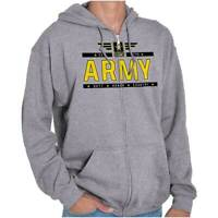 United States Army Officially Licensed USA Zipper Sweat Shirt Zip Sweatshirt
