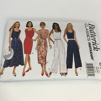 Butterick Classics Sewing Pattern 6786 Misses Dress & Jumpsuit Very Easy XS S M