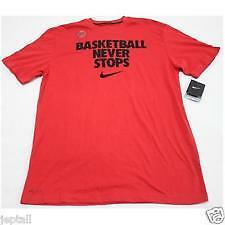 Nike Shirt 520400-658 Basketball Never Stops Red Large Mens Drifit Jeptall