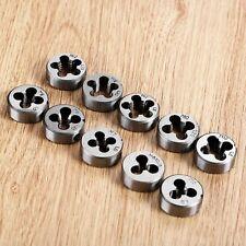 10pcs M6-M12 Metric Threading Screw Die Metalworking Milling Tool Alloy steel