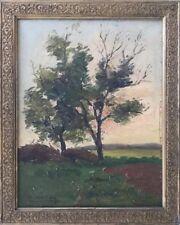 Désiré G.CORNUZ 1883-1914.Paysage.Circa 1910.Huile/toile.SBG.27x35.Encadré.