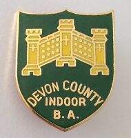 Devon County Indoor Bowling Association Club Badge Pin Rare Vintage (M15)