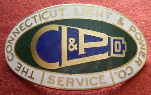 Beautiful Connecticut Power & Light Company (CL&P) Hat Badge