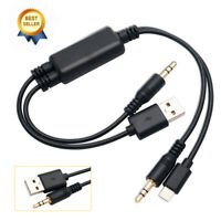 Y Cable Lead USB AUX Interface for BMW MINI COOPER iPhone 7 iPod Touch 5 Nano 7