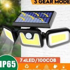 100COB Solarleuchte mit Bewegungsmelder Solarstrahler Außenleuchte Gartenlampe