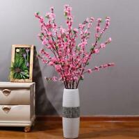 1XArtificial Cherry Spring Plum Peach Blossom Branch Flower Silk Home Fake Z6K5