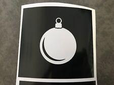 X5 Bauble Stencil Glass Craft Etched Vinyl Sticker Silhouette Christmas Elf