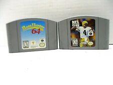 "Nintendo 64 Video Game Cartridges ""NFL Quarterback Club 99"" & ""Bass Hunter 64"""