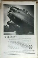 1944 WW2 ICI Aircraft Canopy perspex Full page Advert Original 32x19 cm