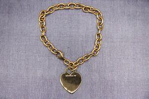 "Estate Tiffany & Co. 18K Gold Heart Tag Charm Bracelet 7.5"" - $4000 RETAIL"