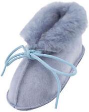 Chaussures bleus à lacets en daim pour bébé