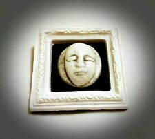 Ghost Face Brooch Pin Gift Gothic Death Mask Cameo Moon