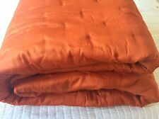 YVES DELORME TRIOMPHE CORAL SATIN LIGHTLY QUILTED COVERLET KING SUPERKING