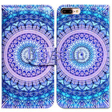 Bcov Mandala Circular Pattern Wallet Leather Cover Case For iPhone 8 Plus