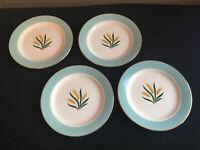 "SET OF FOUR International China VIKING Wheat Pattern 6-1/4"" Bread Plates 1950's"