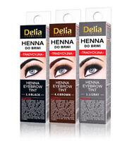 DELIA HENNA TRADITIONAL EYEBROW EYELASHES TINT POWDER KIT SET - US SELLER!!!