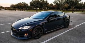 Tesla Model S Carbon Fiber Front Lip Spoiler Splitter