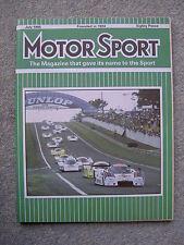 Motor Sport (July 1985) Lamborghini Jalpa, Metro 6R4, Le Mans,Belgian, Monaco GP
