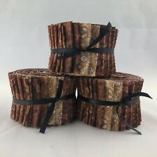 "Rust Jelly Roll 2.5"" Strip 20 Pieces 100% Cotton"