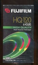 NEW SEALED Fuji Film VHS Blank Video Recording Tape HQ 120 6 Hours High Quality