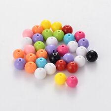 100 bunte Acryl Perlen ca 10 mm matt glänzend Engel basteln A1056