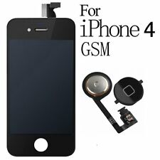 For iPhone 4 Replacement LCD Display Touch Screen Digitizer Black +Home Button