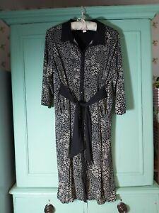 Monsoon black floral dress size 22