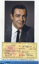 Sean Connery vintage signed Bank Cheque / Check James Bond 007 AFTAL#145