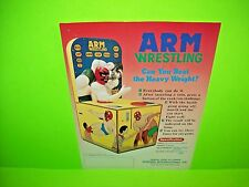 Vending Int. ARM WRESTLING Original Arcade Game Coin-Op Arm Wrestle Promo Flyer