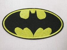 Large Batman Logo Embroidered Iron On Patch 3.5 Inches