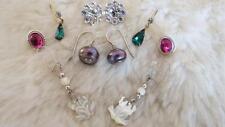 LOTTO misto di 5 paia di orecchini vintage MOP rane Nero Perla Diamante