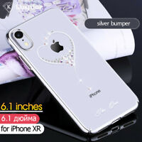 KINGXBAR Wish Series Authorized Swarovski PC Case Cover for iPhone XR 6.1 inch