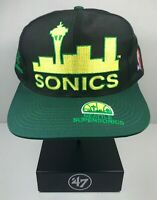 Vintage Seattle Supersonics Logo Athletic snapback hat cap streetwear Sonics NBA