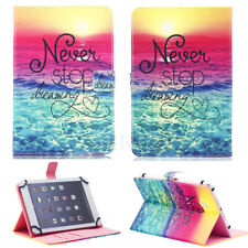 """US For 7.0 7"""" 10.1"""" Tablets Universal Leather Case Never Stop Dream Print Cover"""