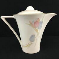 VTG Coffee Pot by Mikasa Swiss Garden Bone China Floral CR009 Japan