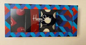 Happy Socks Combed Cotton Gift Box Lot Of 4 Pairs  Socks NWT Sz 9-11