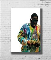 P-446 Art The Notorious Big LW-Canvas Poster - 21 24x36in