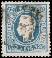 Portugal   #32 Used  CV$67.50 1867 120r BLUE