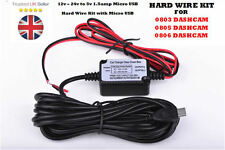 Dashcam coche duro Kit De Cable Para Mini 0803 0805 0806 Dash Cam Hardwire Micro Usb
