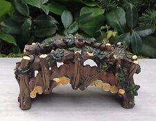 Miniature Dollhouse FAIRY GARDEN Bonsai ~ Wood Look Resin Ivy Bridge ~ NEW