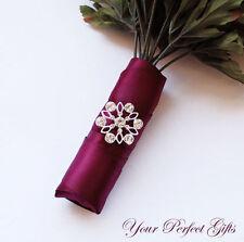 FLOWER Rhinestone Crystal Buckle Slider Wedding Bouquet