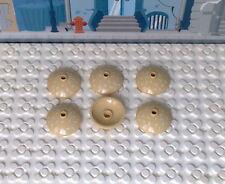 Lego 6 Schüssel Radar Dish 3x3 in beige/tan Neu für Hamburger in 4981