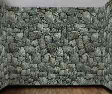 Cobble Stone Wall Backdrop Background Haunted Decoration Plastic Film Camo 20FT
