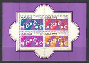 Malawi 1973 Christmas 4v m/s (n20059)